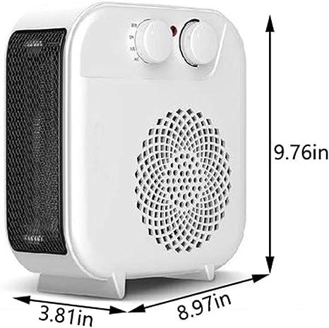 WJJZHS Calentador, Mini Oficina Portátil Hogar Ahorro De Energía Termostato Calefaccion Cronotermostato Calentadores 12v (Color : White1.2m Power Cable): Amazon.es: Hogar
