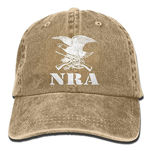 National Rifle Association NRA Adult Washed Retro Denim Hats Adjustable  Baseball Cap Dad Hat d476639c1c6e