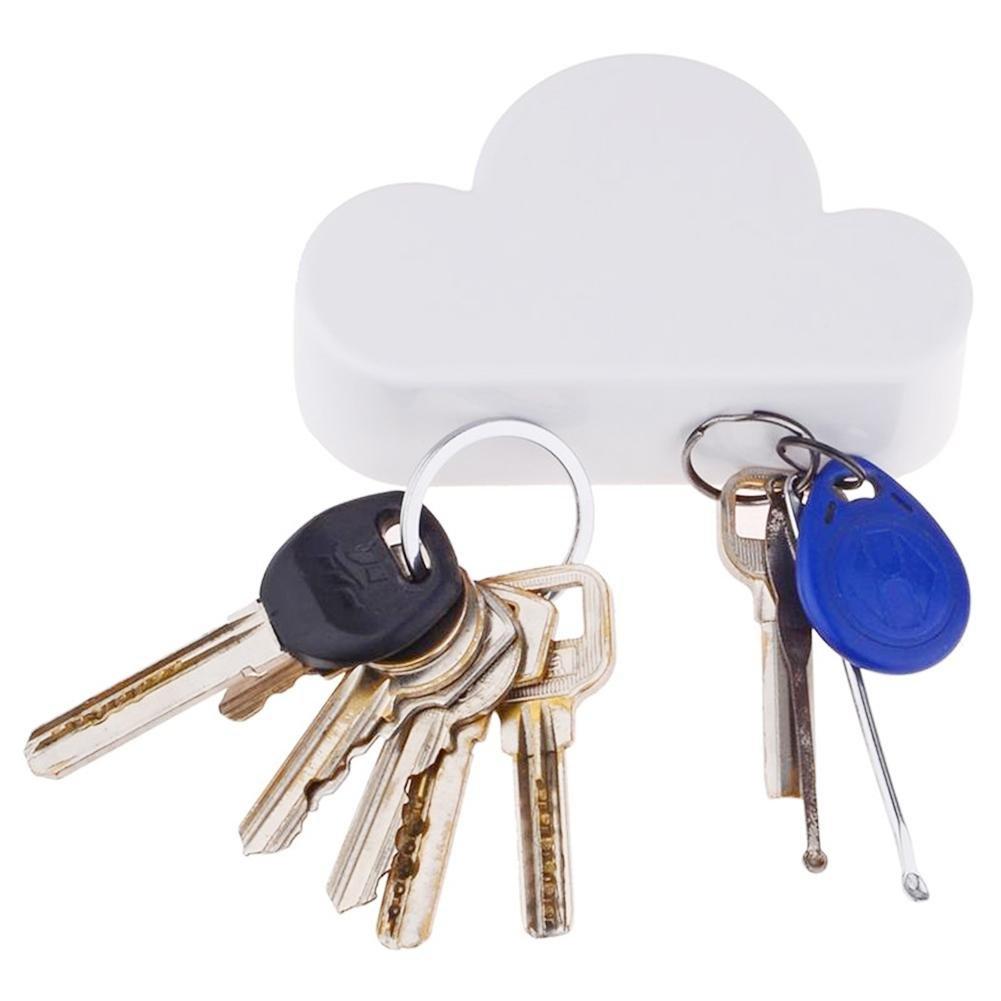 bianco blu Hifuture cloud magnetico Materiale resistente Sucks portachiavi White design unico e funzionamento semplice dei chiave antifurto