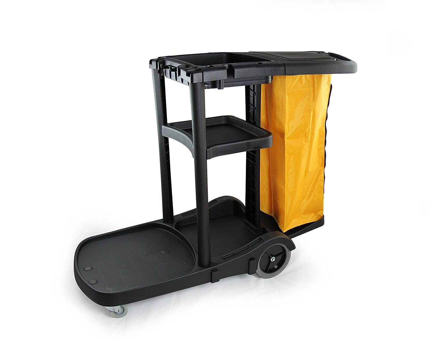 Commercial Housekeeping cart Janitorial cart with cover And Vinyl Bag, L 52'' x W 22'' x H 40''