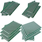 Double Sided PCB Board Prototype Kit, 4 Sizes Universal Printed Circuit Board for DIY Soldering and Electronic Project - 3x7CM/4x6CM/5x7CM/7x9CM, Pack of 16, by Ltvystore