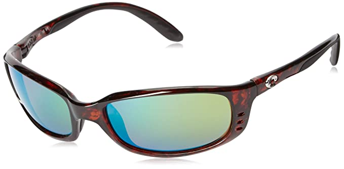 31fa50268f New Costa Del Mar Brine BR 10 Tortoise Sunglasses for Mens - Size 580P  (Green Mirror Lens)  Amazon.co.uk  Clothing