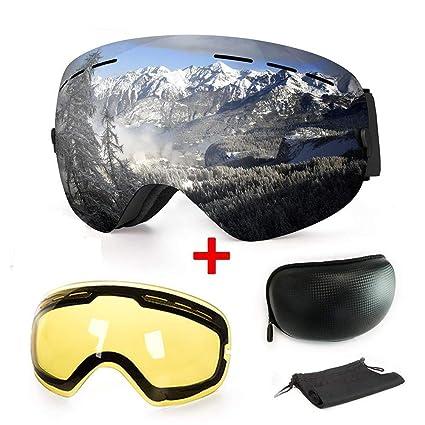 724a8492eb0 WLZP Gafas de esquí antiniebla con protección UV para Snowboard ...