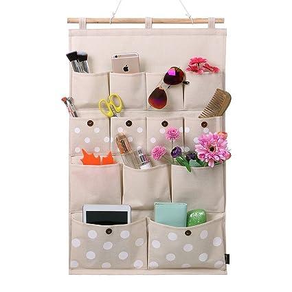 Amazoncom Homecube LinenCotton Fabric 13 Pockets Wall Door Closet
