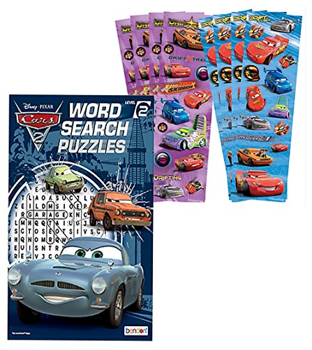 Disney Pixar Cars Word Search Activity Book Plus Bonus Cars Stickers Featuring Lightning McQueen!