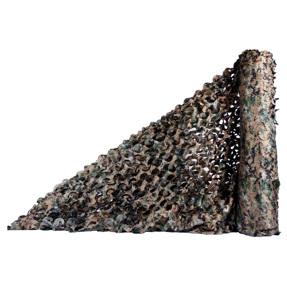 FEIFEI 迷彩ネット、ウッドランドミリタリーメッシュ迷彩メッシュネットキャンプのための完璧なcamonetting射撃狩猟軍事テーマパーティーの装飾 (色 : 02, サイズ さいず : 1.5x15m/4.9x49.2ft) 1.5x15m/4.9x49.2ft 2 B07PVNQNM2