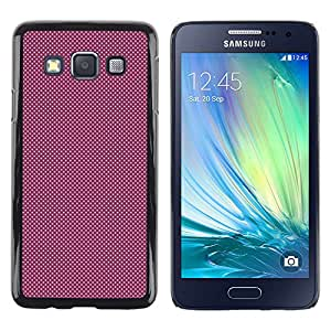 CASEMAX Slim Hard Case Cover Armor Shell FOR Samsung Galaxy A3- PURPLE DOTS PATTERN