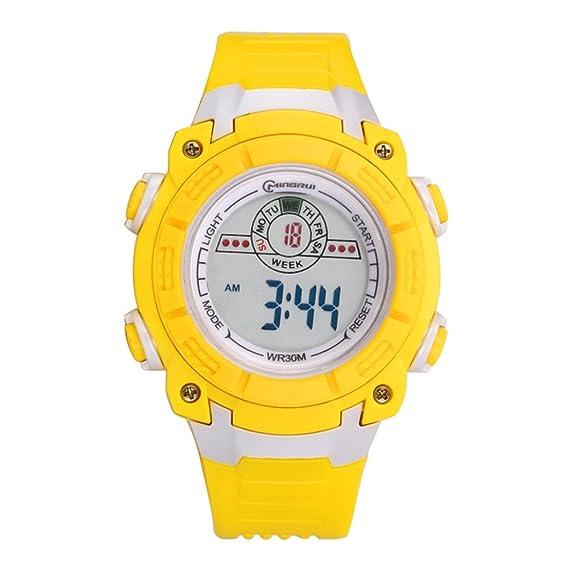 Niño Relojes electrónicos,30m impermeable Luminoso Calendario Mes de la semana Corriendo Reloj deportivo Junior