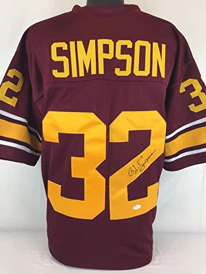 new styles 643b3 61001 OJ SIMPSON SIGNED AUTOGRAPHED JERSEY JSA COA USC TROJANS ...