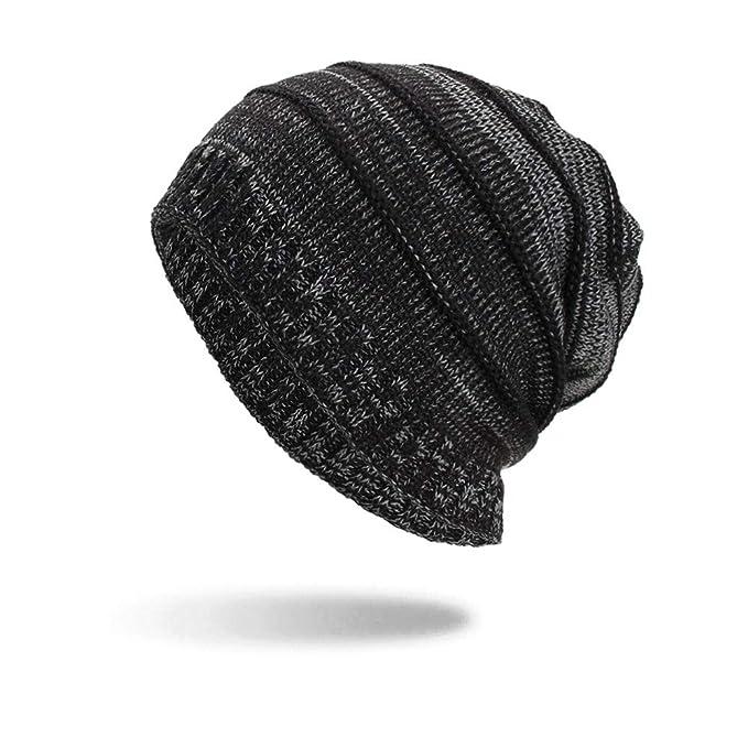 bc99393a370e7 TWGONE Womens Wrap Cap Men Warm Baggy Weave Crochet Winter Wool Knit Ski  Beanie Skull Hat(One Size