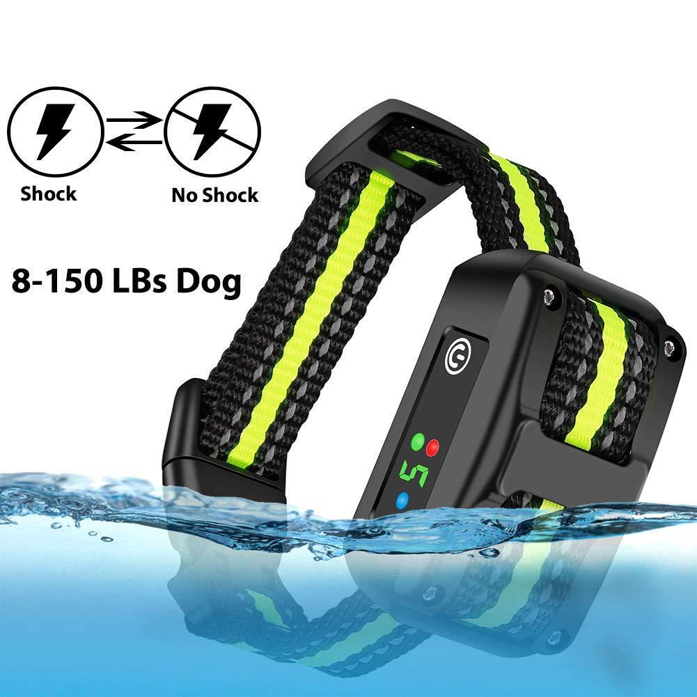 LELEKEY Dog Bark Collar,Automatic Anti Barking Control Device,5 Adjustable Sensitivity,Waterproof & Rechargeable,Humane Staitic Shock,No Shock,Beep & Vibration for Small Medium Large Dogs