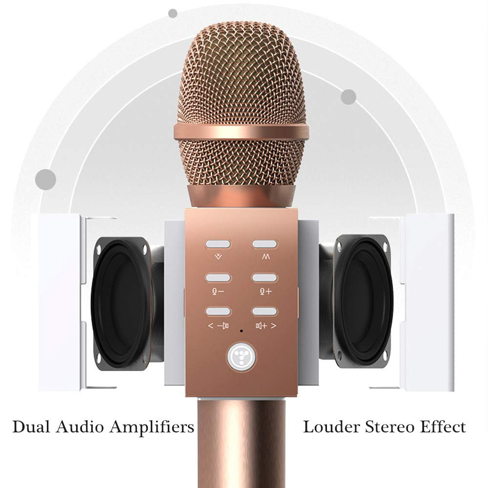 TOSING Wireless Karaoke Microphone, Louder Surrounding Stereo, Bluetooth Handheld Portable Karaoke Machine, Top Birthday Easter Gifts Ideas for Teens and Adults, Compatible with iPhone Android Phones by TOSING (Image #2)
