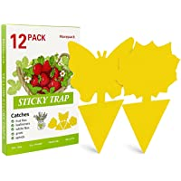 12Pack Yellow Sticky Traps,Dual-Sided Sticky Fruit Fly Traps and Gnat Traps Sticky Bug Traps Houseplant Sticky Insect…