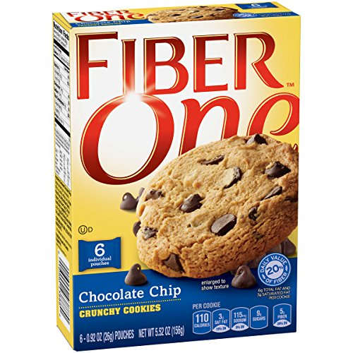 Fiber One Snacks Chocolate Chip Crunchy Cookies Pouches, 5.52 Ounce