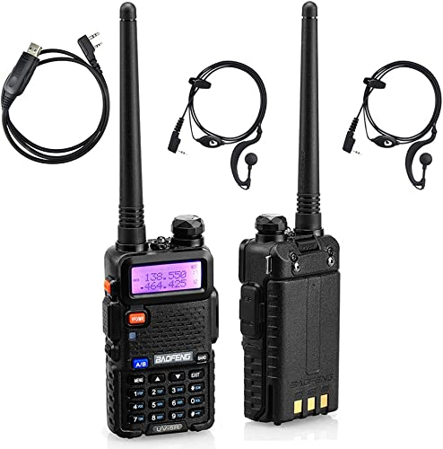 BaoFeng UV-5R Dual-Band UHF VHF Portable Ham Two Way Radio Pack of 2