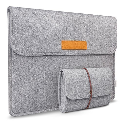 Inateck 15-15.4 Inch MacBook Pro 15 Retina Case Ultrabook Netbook Bag Carrying Case Cover with Pocket, Light Gray