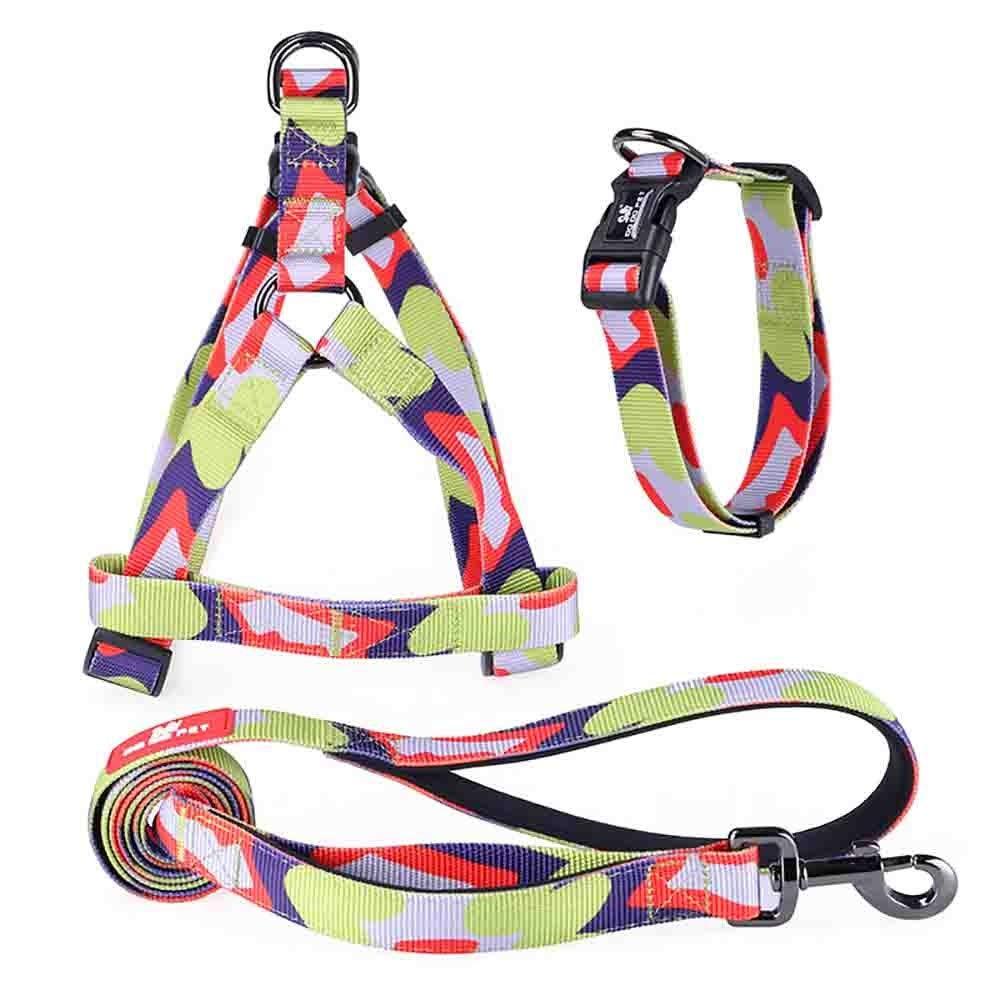 E MediumDog Leash,Adjustable Non Pull Ultra Long Lead Heavy Duty Training Set 3 Pack High Visibility No Choking for Small Medium Large Dog Puppy