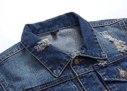 denim hombres masculino Slim chaqueta los clásico ropa denim denim XXXL Chaqueta lavan Slim denim qYRtq1