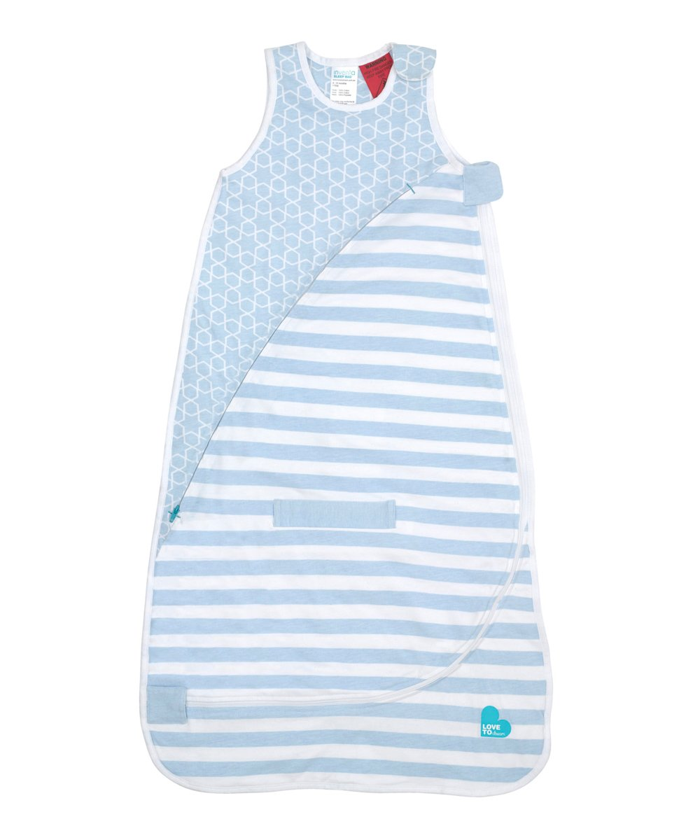 Love To Dream Inventa Lightweight Sleep Bag/Wearable Blanket with Unique Vented Cooling System, Luxurious Super-Soft CotTon, Stylish Fashion Design, .5 TOG, 4-12 Months, Light Blue by Love to Dream (Image #1)