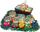 Healthier Nuts & Snacks Autumn Gift Basket - Selection of Nut And Fruit Snacks With Decorative Pumpkin