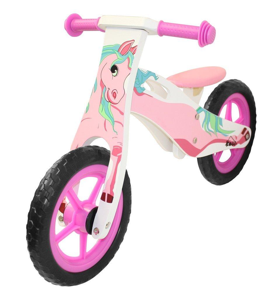 Kobe Wooden Balance Bike - Pink Pony - 12'' Bicycle