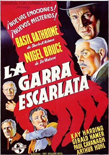 The Scarlet Grab Poster Movie Spanish 11x17 Basil Rathbone Nigel Bruce Miles Mander Gerald Hamer