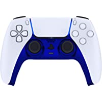 eXtremeRate Chrome Blue Glossy Decorative Trim Shell for DualSense 5 Controller, DIY Replacement Clip Shell for PS5…