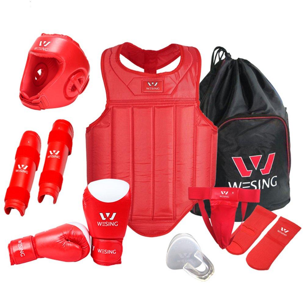 Wesing Martial Arts Protector Equipments Sanda Kickboxing kit 8pcs Gear Set