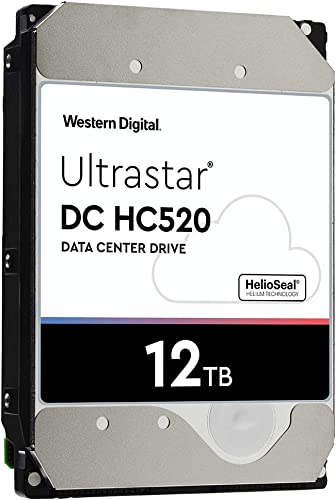 HGST - WD Ultrastar DC HC520 HDD | HUH721212ALE600 | 12TB 7.2K SATA 6Gb/s 256MB Cache 3.5-Inch Helium Data Center Internal Hard Disk Drive
