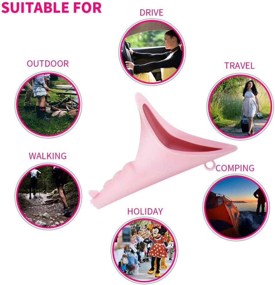Festivales,Pink ZZYYZZ Urinarios Femeninos Embudo port/átil para Mujeres Senderismo Actividades al Aire Libre Camping