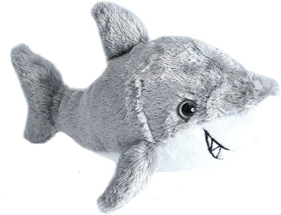 "Wild Republic Shark Plush, Stuffed Animal, Plush Toy, Gifts for Kids, Hug'Ems 7"""