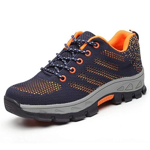 Zapatillas de Trabajo Chenqi para Mujer Calzado de Trabajo con Puntera de Acero Calzado de Punta Compuesto Ligero y Entresuela de Kevlar Zapatillas: ...