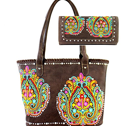 montana-west-concealed-handbag-wallet-set-floral-paisley-emroidery-coffee
