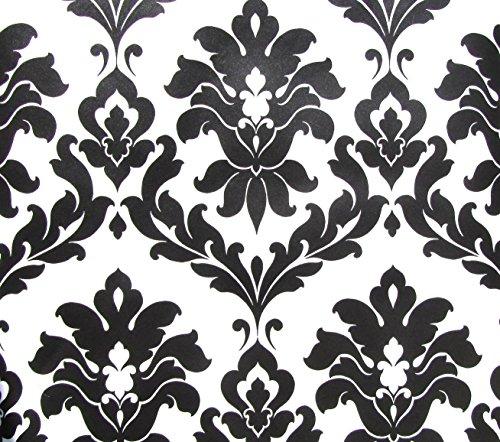 Norwall Black and White Damask Wallpaper VG26230P