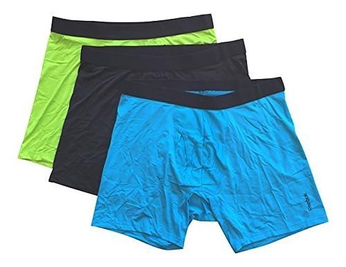 Reebok para hombre transpirable 3pk Boxer Slip azul Blue/Grey/Lime Green