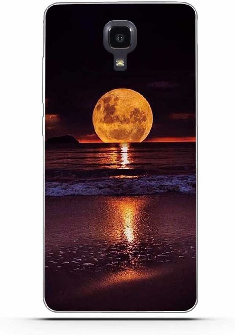 Xiaomi Mi 4 Funda, Xiaomi Mi4 Funda, Gift_Source [ Luna ] teléfono caso cubrir volver piel protectora Shell Carcasas Funda Silicona Suave Funda Shock- Absorption and Anti-Scratches para Xiaomi Mi4 M4
