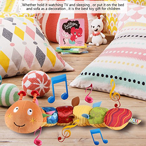 LIGHTDESIRE Musical Toy Caterpillar [Newest] Crinkle Rattle Soft with Ring Bell Toddler Plush Toy for Preschool Kid by LIGHTDESIRE (Image #6)