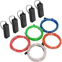 Litake El Wire, 5X3M Luz De Neón Con Pilas Alambre Electroluminiscente Que Brilla Intensamente Luz Decorativa Estroboscópica…