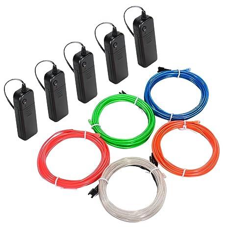 Amazon.com : Litake EL Wire Kit, 9.82ft Multi-colored Neon Rope ...