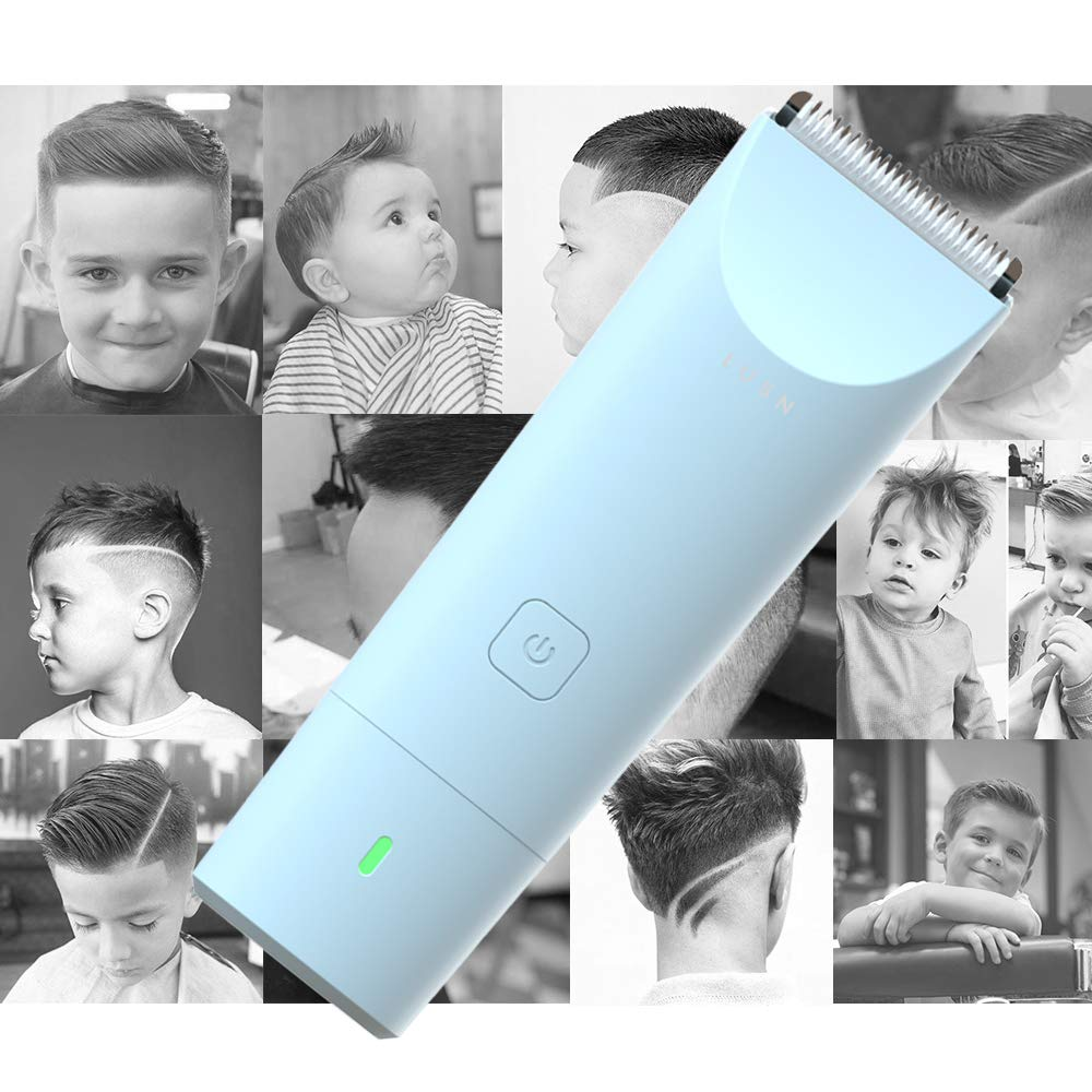 Ultra-Quiet 2.0 Kids Hair Trimmer Kit with 3 Guide Combs /& a Haircut Cape for Toddler and Baby Use IPX7 Waterproof LUSN Baby Hair Clippers Cordless /& Fast Charging