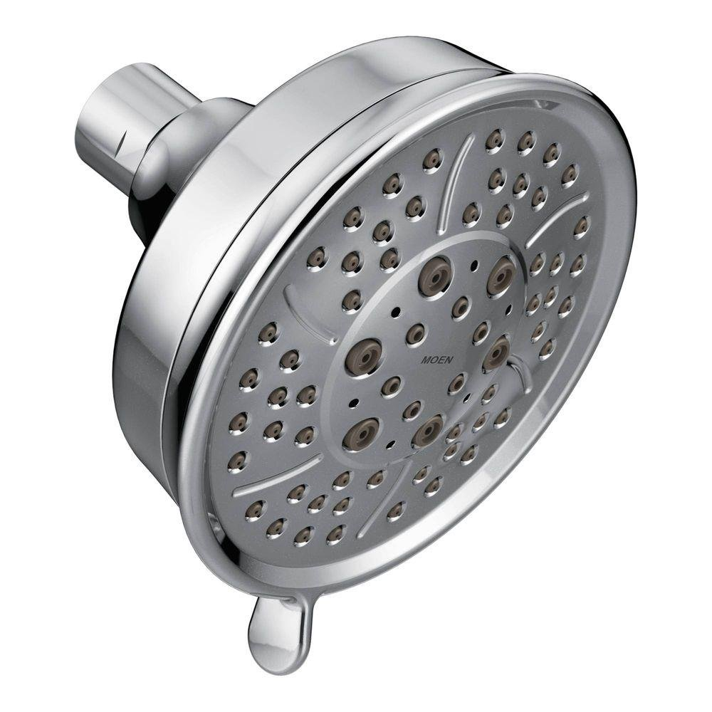 Moen 3638BN Four Function 4 3/8 Inch Diameter Showerhead, Brushed Nickel    Fixed Showerheads   Amazon.com