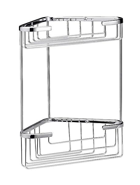 Ultra LL308 Chrome Wirework Large 2 Tier Corner Basket