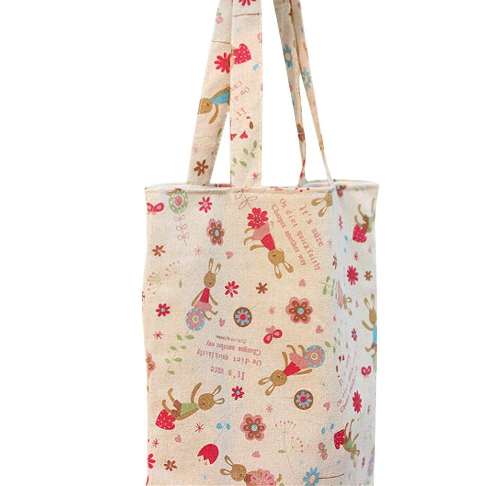 cc3f73d82 Flowertree Women's Cute Animal Print Canvas Tote Bag [1541761986 ...
