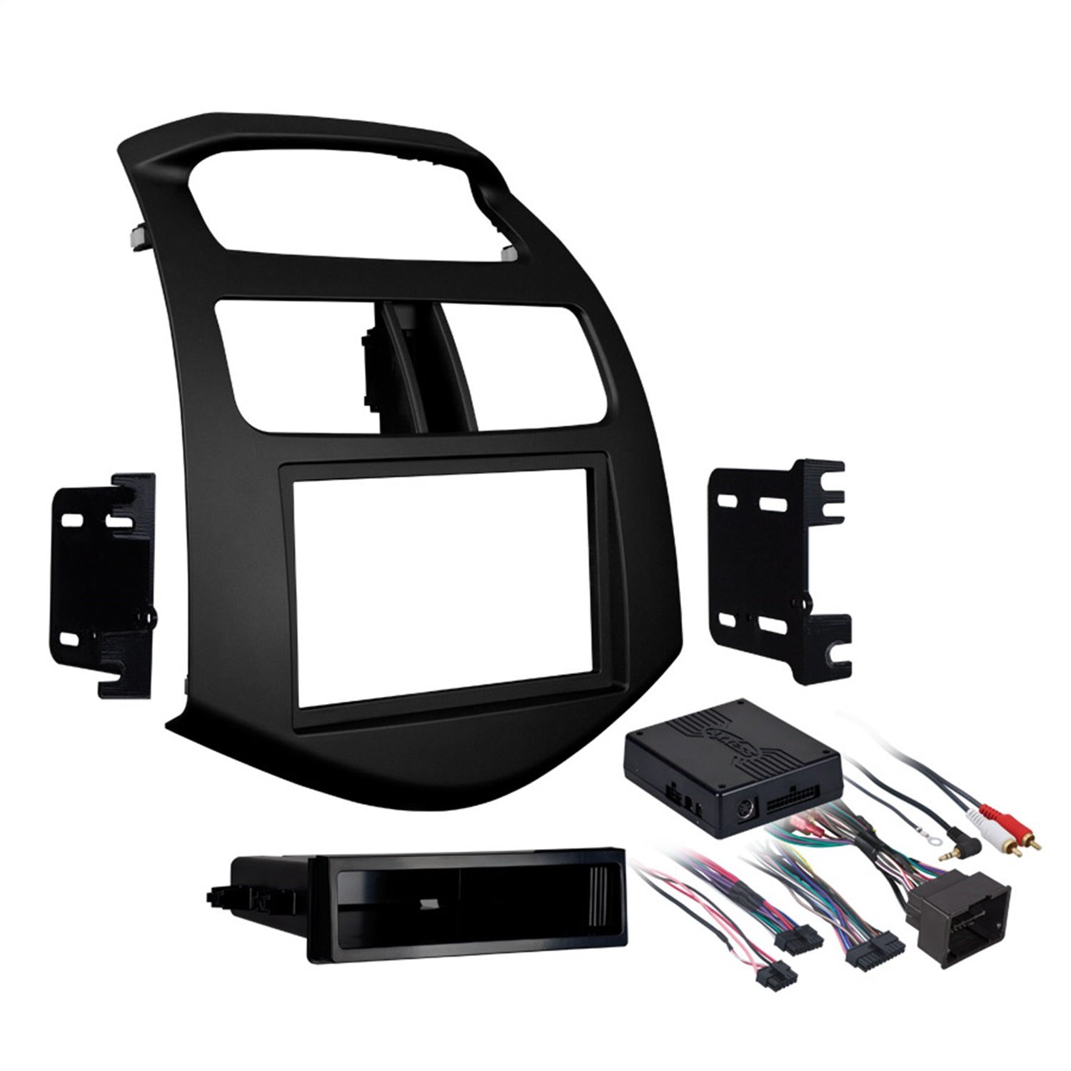 Metra 99-3309B Single/Double DIN Stereo Installation Dash Kit for 2013- 2015 Chevy Spark (Black)