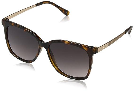 Ted Baker Sunglasses Damen Sonnenbrille Alva, Schwarz (Black), 57