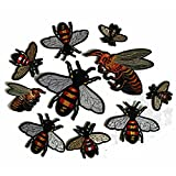 #9: 10PCS/LOT Mini Bee Patch Embroidery Iron on Patch Decoration Accessories Embroidered Patch For Clothing For T-shirt