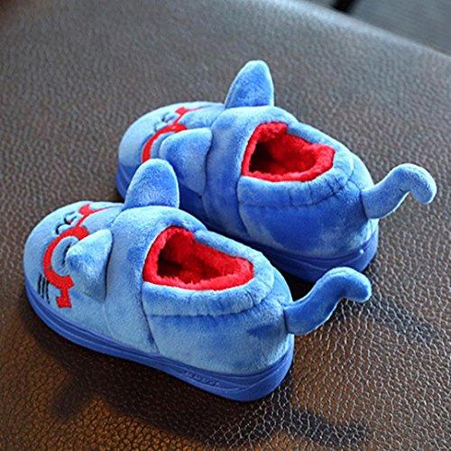 Baby Stiefel, BZLine® Baby Mädchen Plüsch Weiche Sohle rutschfeste Warme Samt Schneeschuhe Blau