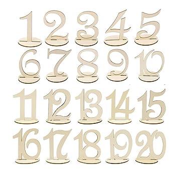 Wskderliner Tischnummern Hochzeit Holz Nummern Holzzahl Ringkissen