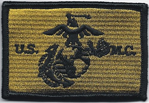 - Iron On Embroidered Patch Top Quality USMC US Marine Corps Marines Green Black Eagle Globe Anchor EGA 2