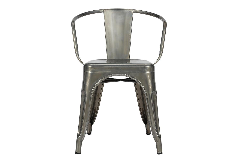 amazoncom dhp elise dining chair set of 2 antique gun metal kitchen u0026 dining